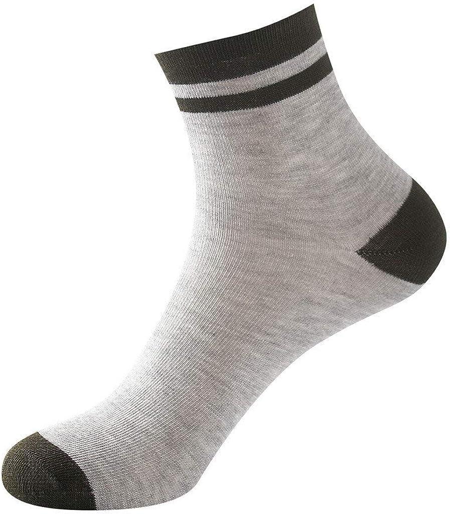 Fannyfuny Hombres Calcetines de Deporte Calcetines Medianos de 1 par de Algodón Puro no Elástico Diabético de Agarre Suave y Cómodo Casuales Palas de Padel