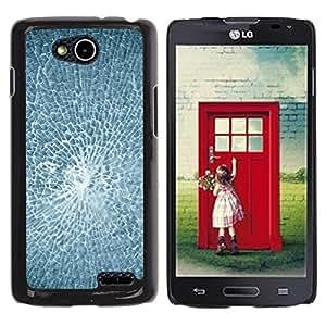 TopCaseStore / la caja del caucho duro de la cubierta de protección de la piel - Smashed Broken Glass - LG OPTIMUS L90 / D415