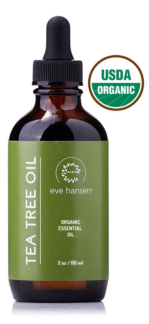 USDA Certified Organic Tea Tree Oil - Use as a Natural Antiseptic Wash, Dandruff and Lice Treatment, Acne Treatment, and Nail Fungus Treatment - 2 Ounce - Eve Hansen