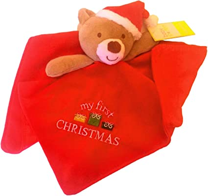 Red My First Christmas Teddy Rattle Baby Gund 5/""