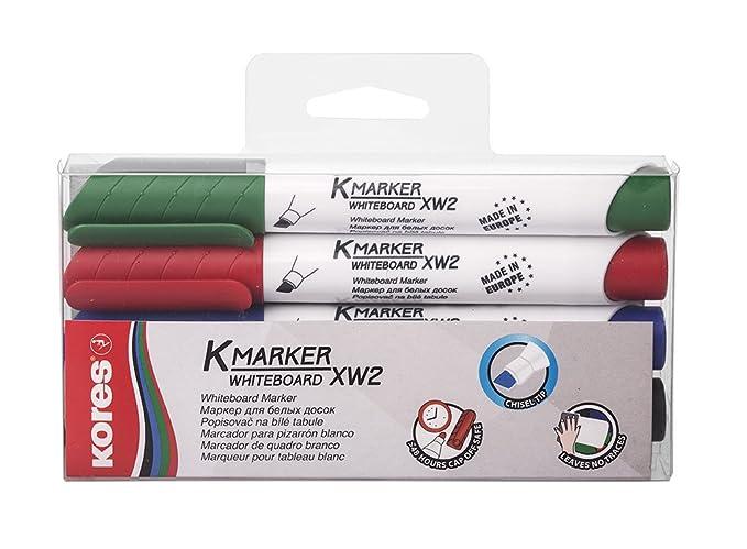 """verschiedene Farben Kores Whiteboard /& Flipchart Marker /""""K MARKER/"""" Keilspitze"""
