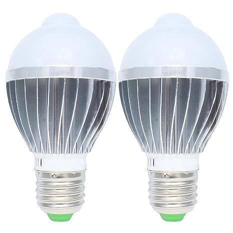 2X 5W Sensor de movimiento Bombilla LED de infrarrojos de detección de movimiento de la luz