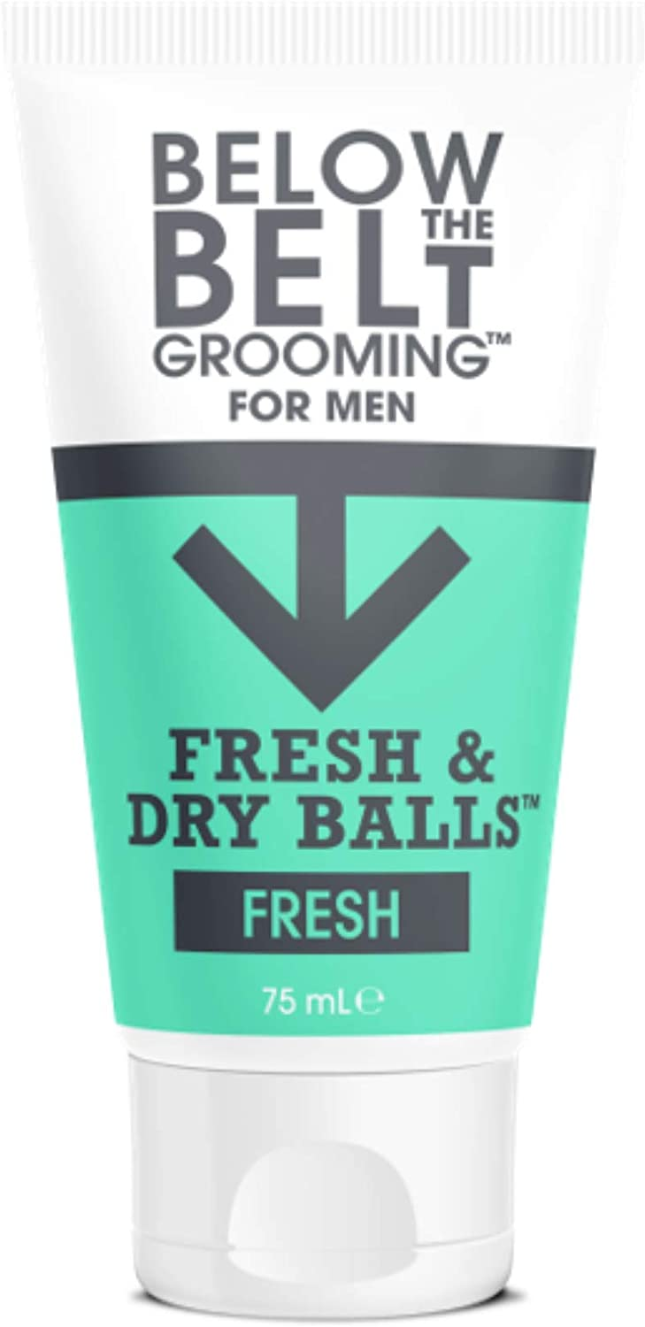 Below The Belt Grooming Fresh & Dry Balls Intimate Deodorant For Men Protects against Sweat, Odour and Chafing Fresh Scent 75ml