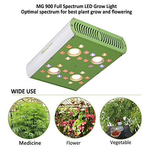Led Grow Light-900w Grow Lamps for Greenhouse Hydroponic Indoor Plants Growing Veg and Flower Lighting Fixture with Full Spectrum COB and CREE/OSRAM Led Chips