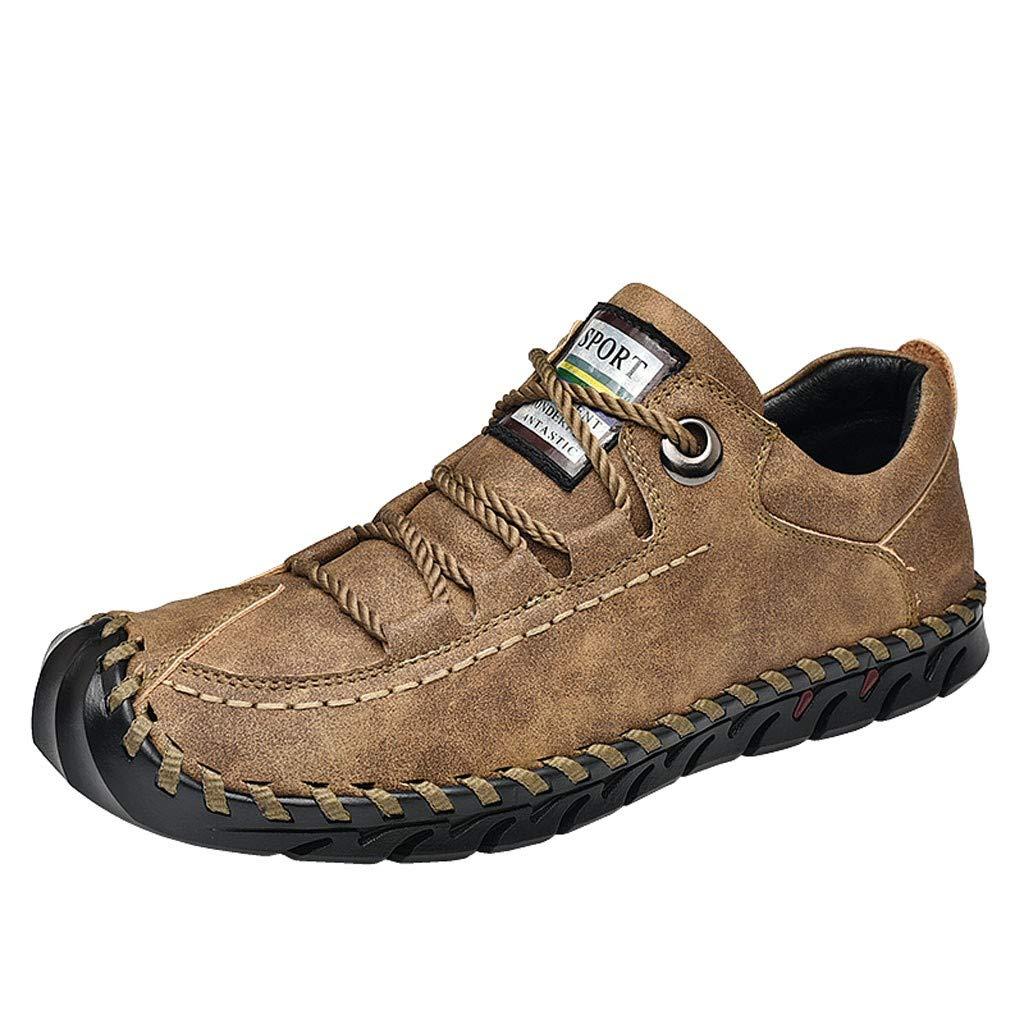 Miuye yuren Men's Hiking Boots Slip On Water Shoes Casual Lightweight Climbing Shoes Outdoor Athletic Sneakers Khaki by Miuye yuren-Shoe