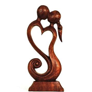 Fantastisch Simandra Holz Figur Skulptur Abstrakt Holzfigur Statue Afrika Asia  Handarbeit Deko Fruchtbarkeit Größe 20 Cm