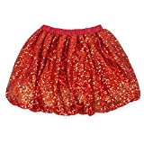 Coralup Little Girls Sparkle Sequins Ballet Tutu Skirts D7006(Red,7-8Y)