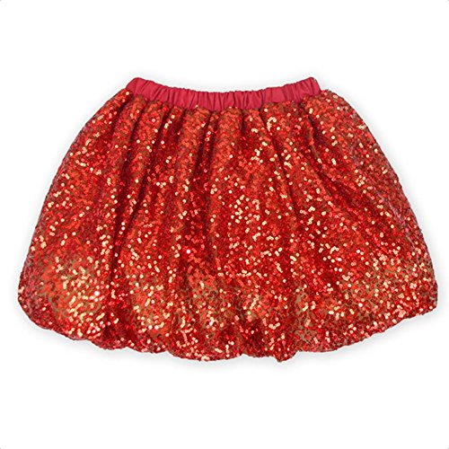 Coralup Little Girls Sparkle Sequins Ballet Tutu Skirts D7006(Red,7-8Y) by Coralup