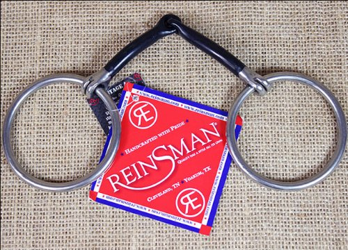 Reinsman Medium Loose Ring 3/8 Inch Smooth Sweet Iron Horse Snaffle Bit (Horse Smooth Bit Snaffle)