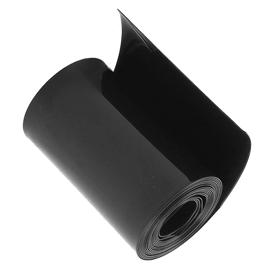 XZANTE Tube de retrecissement de la Chaleur de PVC de la Largeur 8M de Longueur Plate de 75mm Noir pour des Batteries 18650