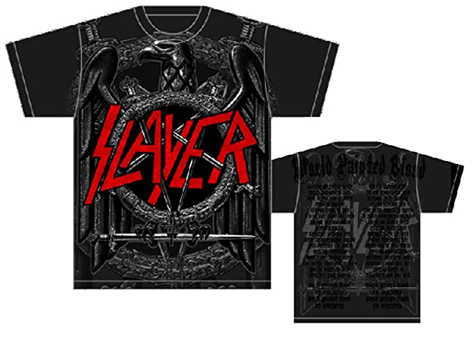9fd26803685a Slayer Jumbo Black Eagle Pentagram Mens T-Shirt in Black, Size: Small,