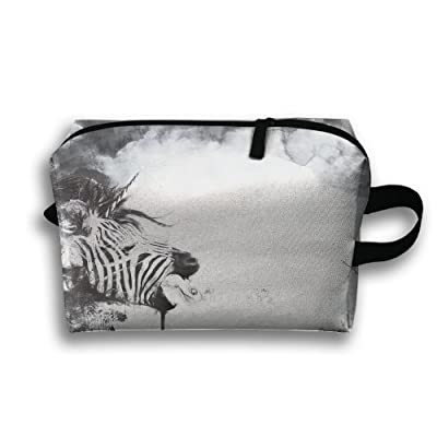 39ff3b56924e Abstract Splatter Zebras Travel Bag Toiletries Bag Phone Coin Purse ...