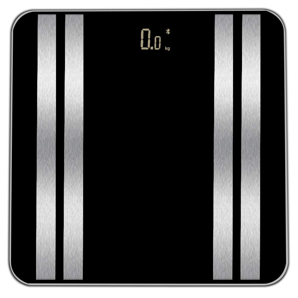 JinJin Scale Bluetooth Body Scale Smart Scale Digital Bathroom Wireless Weight Scale iOS & Android APP for Body Weighc (black) by Jinjin (Image #2)