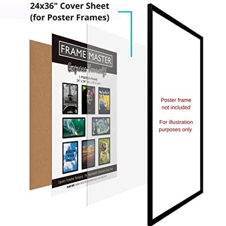 Amazon FrameMaster Flexible Plastic Sheet 24x36 Inch 2 Pack 003 Thick For Poster Picture Document Frame Glass Replacement DIY Project Office