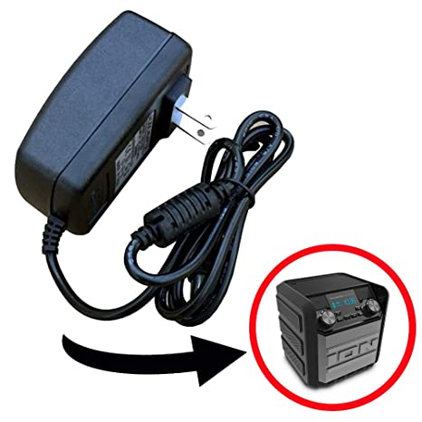 AC DC Replacement Power Supply Power Adapter Charger, Compatible with ION  Tailgater Express Compact Bluetooth Wireless Portable Speaker