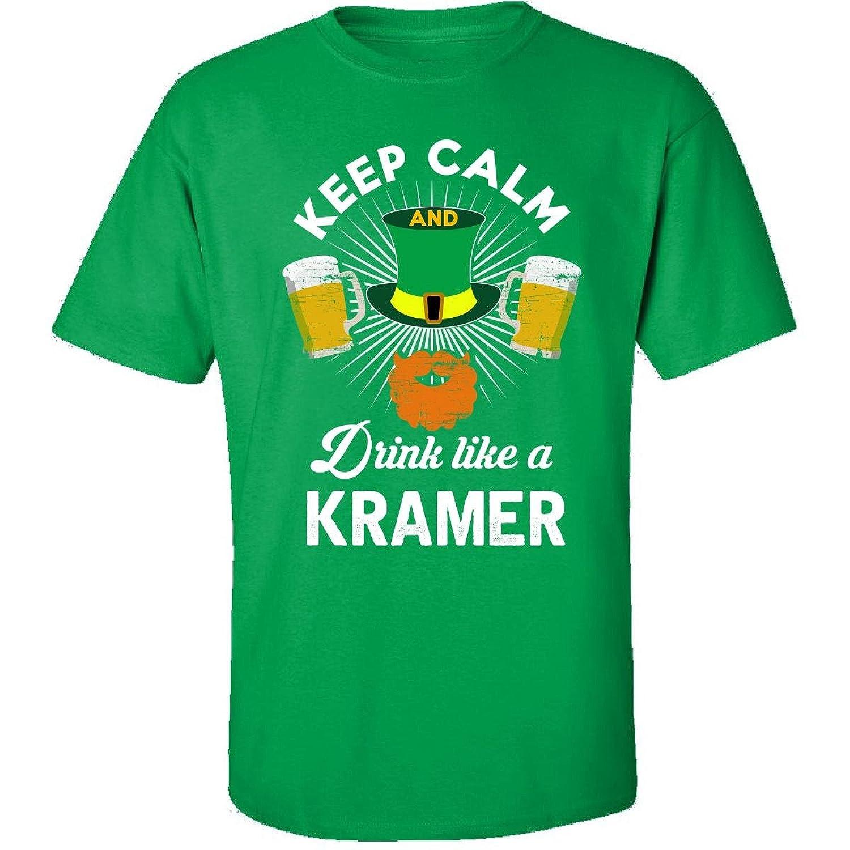 St Patricks Day Keep Calm Drink Like A Kramer Irish - Adult Shirt