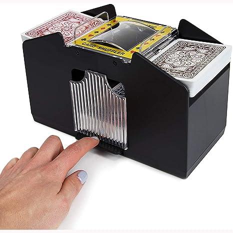 Kartenmischer Holzkartenmischer Automatischer batteriebetriebener Spielkartenmischer f/ür 2-Deck-Poker