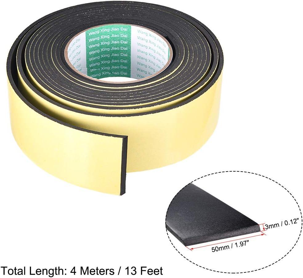 sourcing map Joint mousse ruban 50mm large 2mm /épaisseur 16,4 long /étanch/éit/é adh/ésif