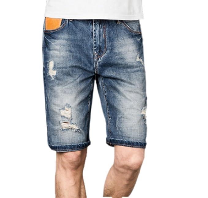 Pantalones vaqueros rasgados para hombre Pantalones cortos Joggers Algodón  Retro Hip hop Hombres Biker Jean Male Denim Pants Hole  Amazon.es  Ropa y  ... 5a0344028e5