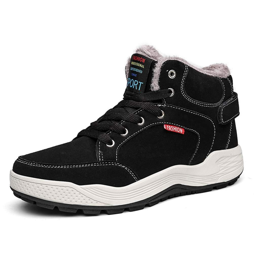 AFFINEST Zapatos de Invierno Hombre Botas de Nieve Calentar Plano Botines Casual Deportivos Al Aire Libre Anti-Deslizante Zapatos