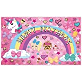 Allenjoy 5x3ft Colorful Cartoon Backdrop for Sweet