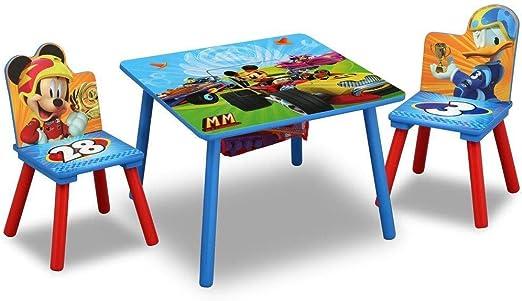 Delta Kids Disney Mickey Mouse - Juego de Mesa y sillas de Madera para niños con Almacenamiento: Amazon.es: Juguetes y juegos