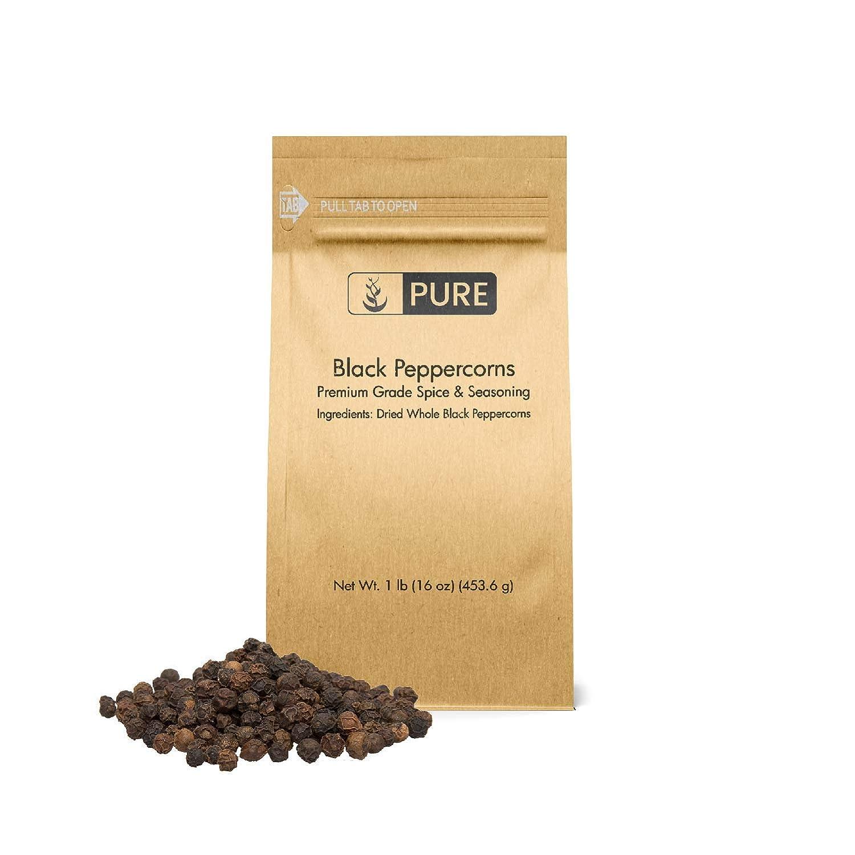 Black Peppercorns (1 lb), Seasoning, Flavoring Agent, Natural Food Preservative, Gluten Free, Vegan, Eco-Friendly Packaging