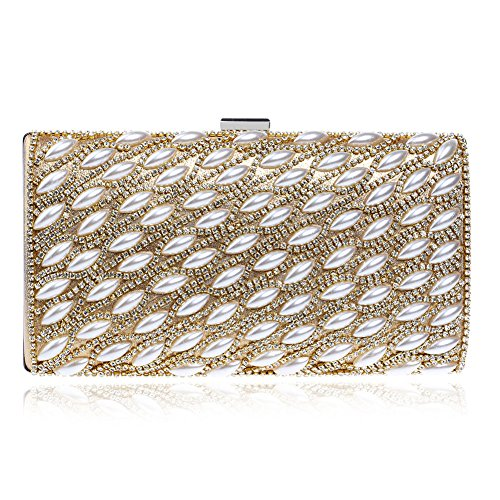 Dinner 4 Evening Pearl Handmade Beautiful 1 Party Package Clutch Nightclub Wild Color Star QEQE Women's Bag wR6xaa