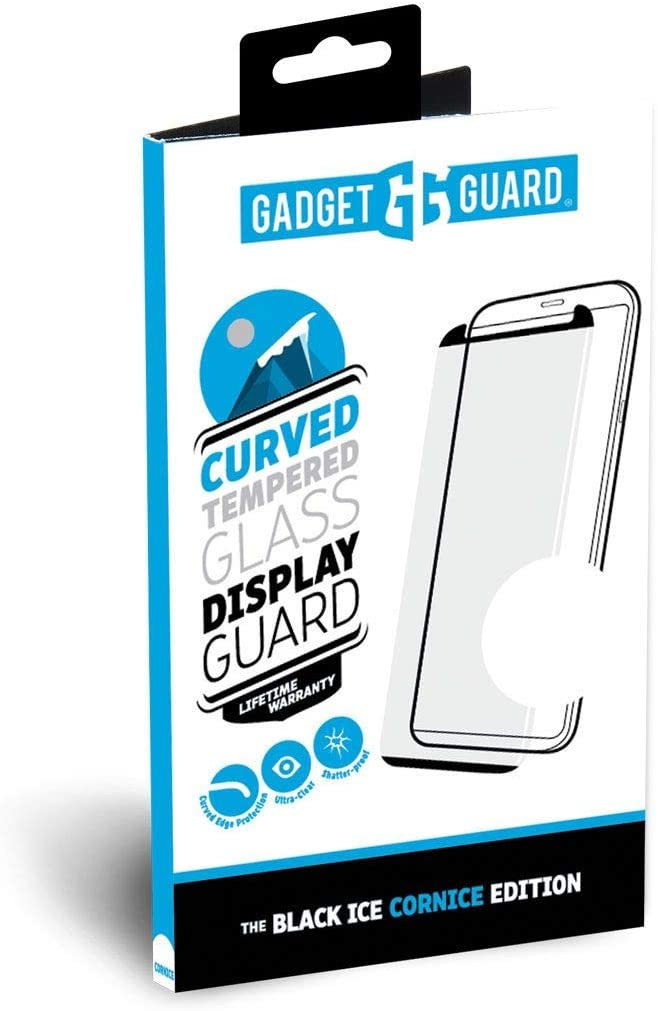 Gadget Guard Black Ice Cornice Curved Glass Screen Protector for LG V40 ThinQ