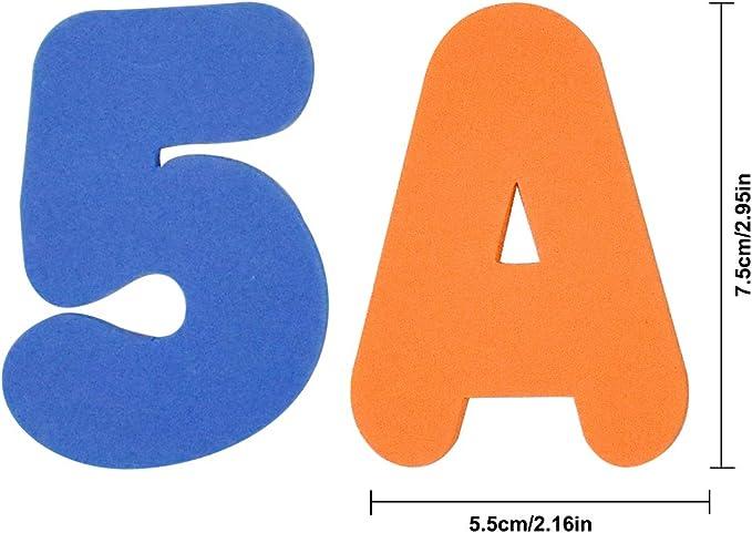 Baby Badespielzeug Badewannenspielzeug Bade Buchstaben Zahlen Schaum f/ür Kinder /& Babys NATUCE 36 St/ück Learn Bade Buchstaben und Zahlen A-Z, 0-9 Badespielzeug Baby Badewanne Geschenke
