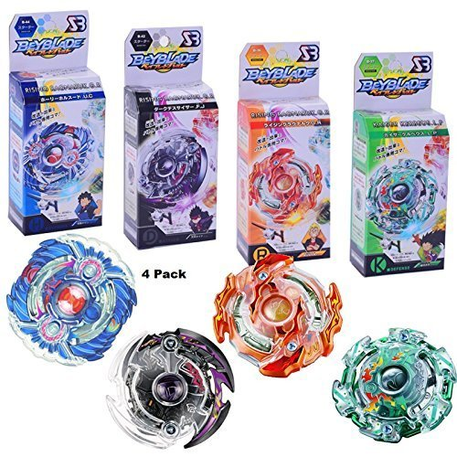 4D Beyblades Burst with Launcher 4-Pack Value Starter Pack Fighting gyro Original Box Metal Plastic Fusion Gift Toys for Kids