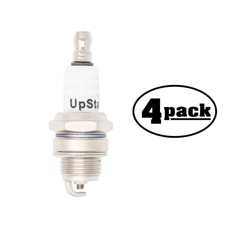 4-Pack Compatible Spark Plug for POULAN Chain Saw PP3516AVX, 3816AV, 4218AV, 4218AVX, 4620AVX - Compatible Champion RCJ7Y & NGK BPMR6F Spark Plugs UpStart Components SP-RCJ7Y-4PK-DL363
