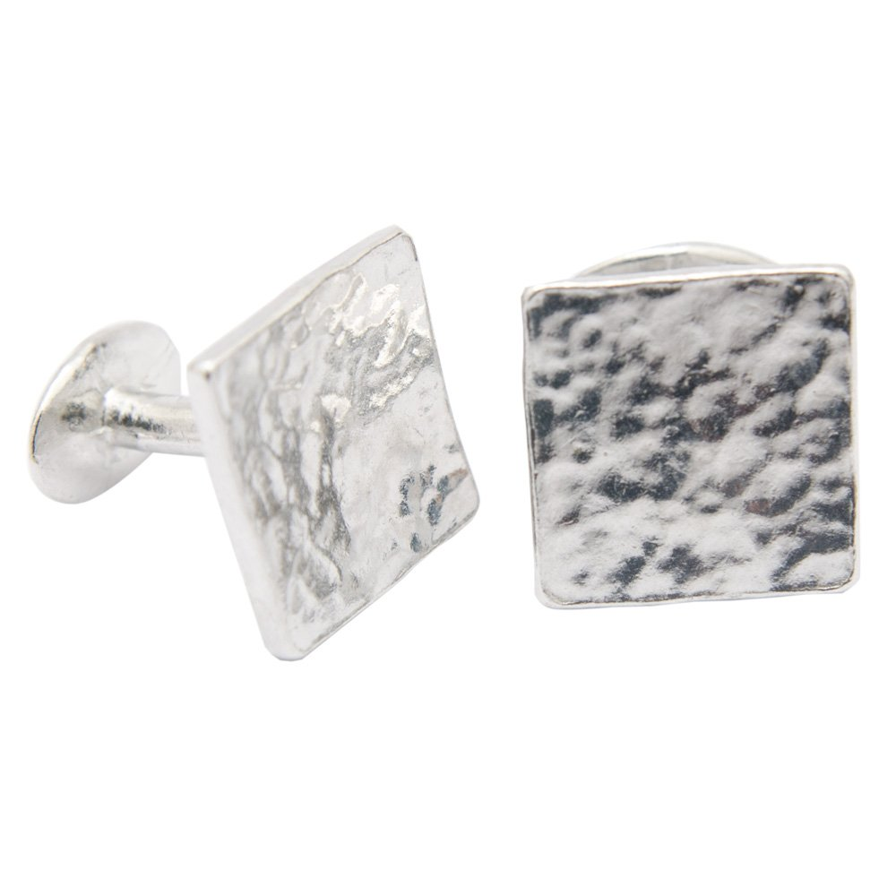10th Anniversary Cufflinks - Hammered Rustic Effect by Pirantin (Image #1)