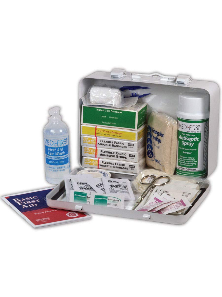 Medique MP818M1 First Aid Kits for Vehicle, Capacity, Volume, Standard, White