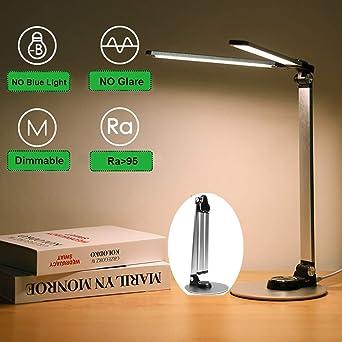 lampara de escritorio,Lámpara Escritorio LED,Lámparas de Mesa,Flexo de Escritorio 10W con 3 modos de color, Cuidado de Ojos, Control Táctil y Bajo Consumo para Trabajo Oficina estudio: Amazon.es: Iluminación