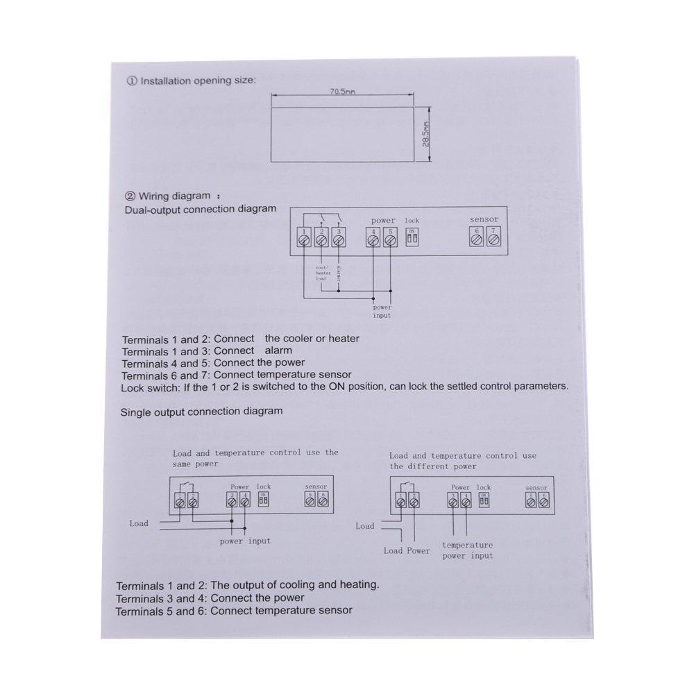 Alloet Willhi Digital Temperature Controller Thermostat Wide Range Fahrenheit Wiring Diagram 30 300 Celsius 12v