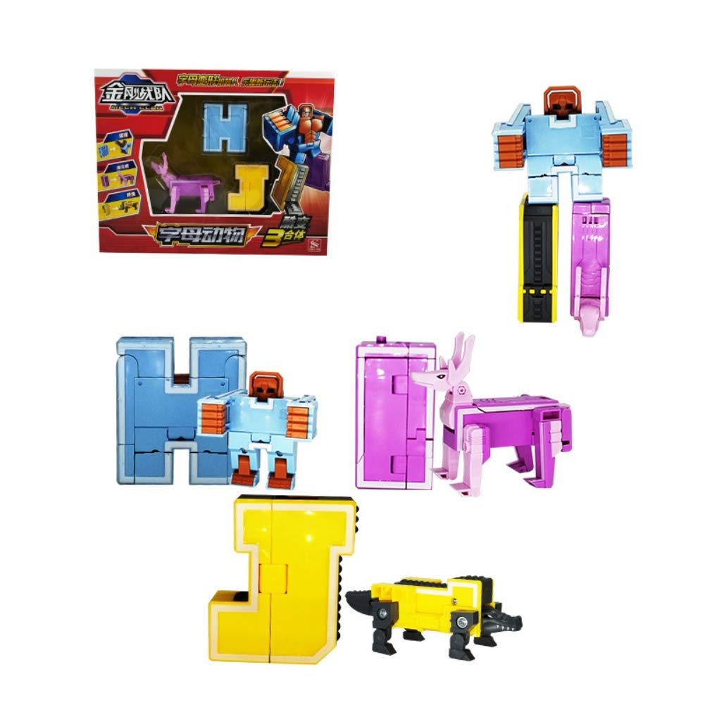 Digital Deformation Robot Toy to A Big Early Learning Robot for Kids Number Alphabet Transform Robots Toy