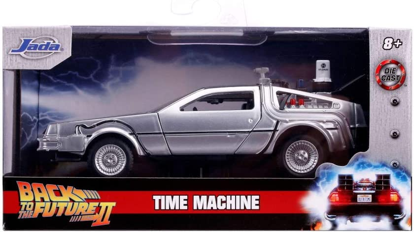 Jada Hollywood Rides Back To The Future II DeLorean Time Machine 1:24 Scale Car