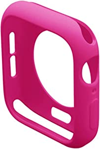 supoer Cover for Apple Watch case 44mm 40mm for iWatch case 42mm 38mm Accessories Silicone Bumper Protector for Apple Watch Series SE 3 4 5 6 (Color : Barbie Pink, Dial Diameter : 42mm Series 321)