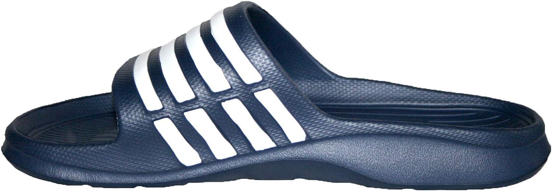 Footloose.Shoes Mens Beach Pool Sliders Stripe Flip Flops Slip On Mules Shower Sandals Summer Holiday Shoes Size 7-12