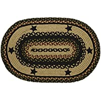 Tartan Star Oval Braided Rug - 22x72