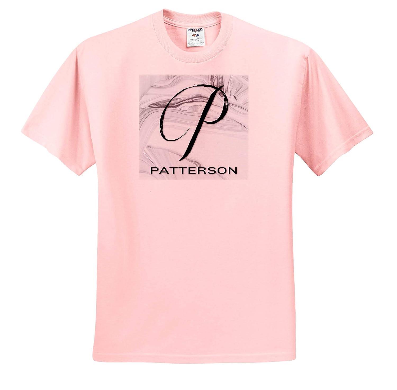 3dRose BrooklynMeme Monograms T-Shirts Patterson White Marble Monogram P