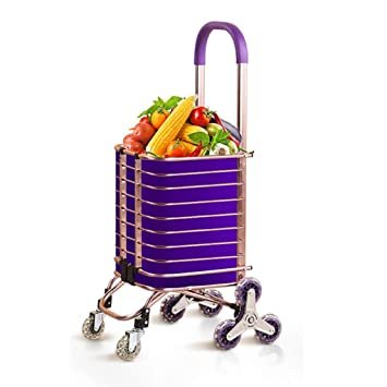 Carritos de la compra Carro de Compras, Subir escaleras Plegables supermercado Plegable Ancianos, Teniendo Alrededor de 35 kg: Amazon.es: Hogar