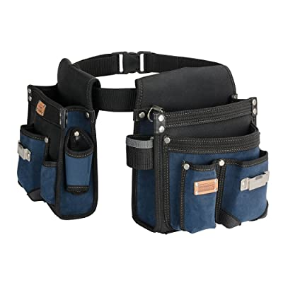 Heavy Duty Technician and Electrician's Waist Tool Bag with Multiple Pockets