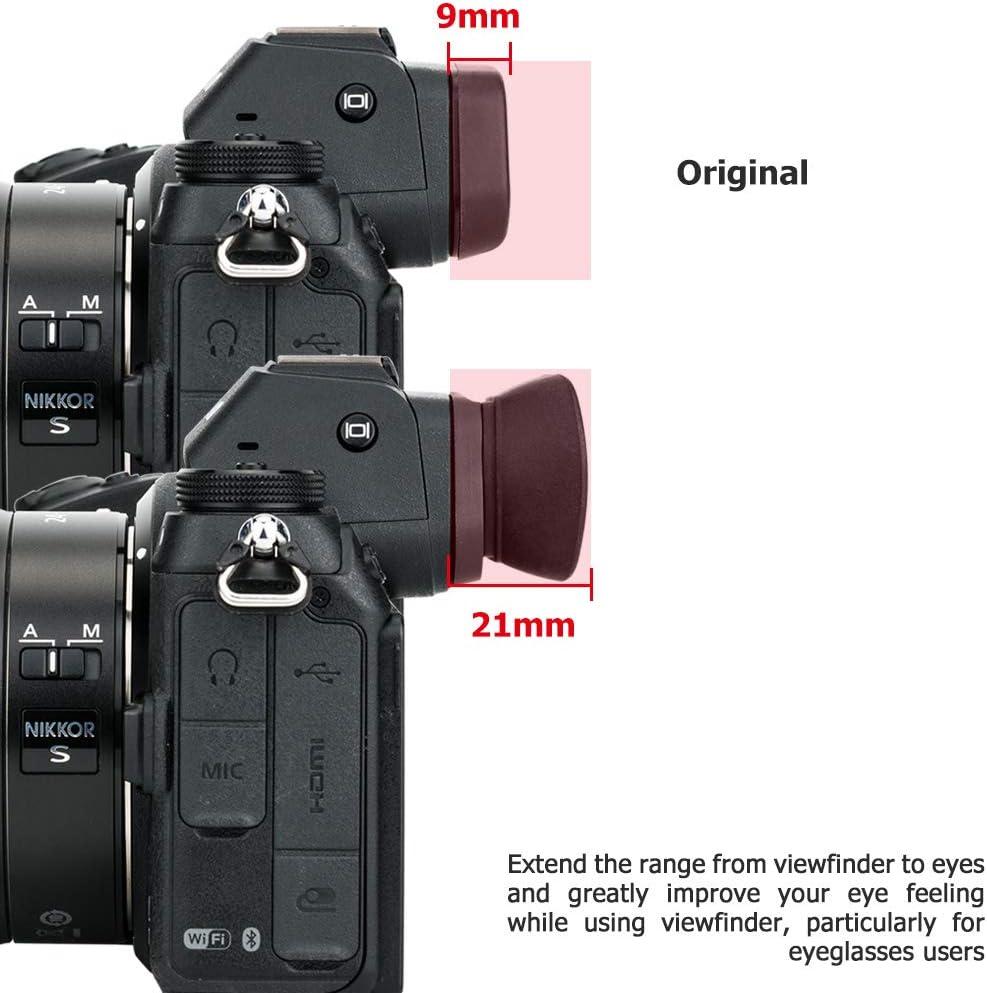 Soft Silicon Camera Viewfinder Eyecup Eyepiece Eyeshade for Nikon D750 D610 D600 D7500 D7200 D7100 D7000 D5600 D5500 D5300 D5200 D5100 D5000 D3500 D3400 D3300 Replaces Nikon DK-28 DK-25 DK-24 DK-23 DK-21 DK-20