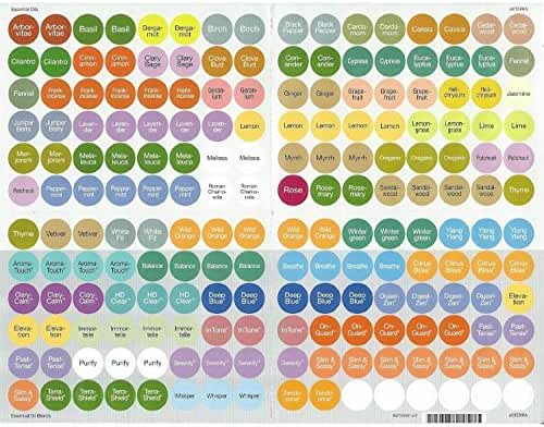 doTerra Essential Oils Bottle Cap Stickers (All)
