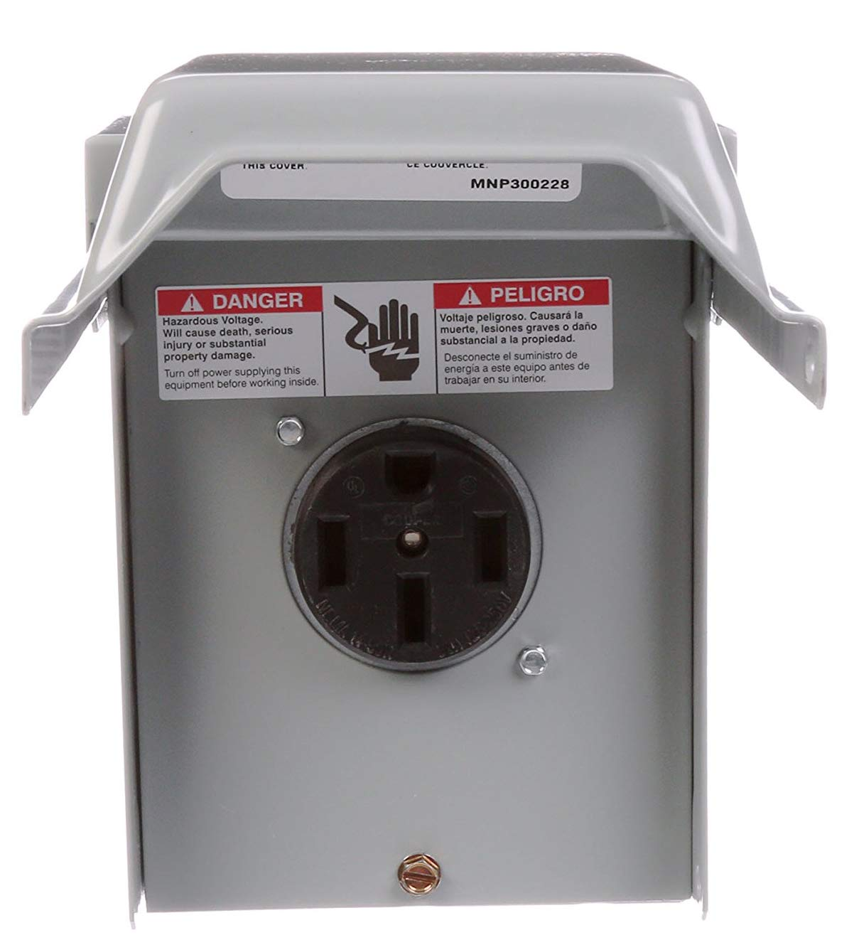 50 Amp Receptacle >> Talon Lgp1s 50 Amp Enclosed Outdoor Rated Receptacle