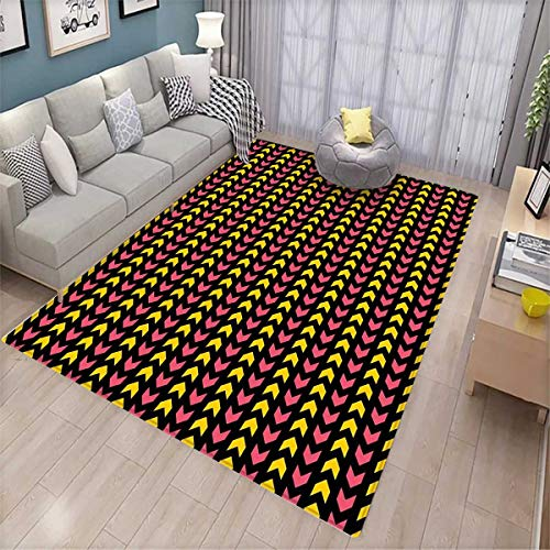 Abstract Anti-Static Area Rugs Zigzag Ethnic Aztec Motif