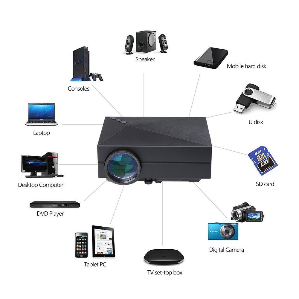 Crenova® XPE450 Mini Proyector Portable 1000 lúmenes 800*480 ...