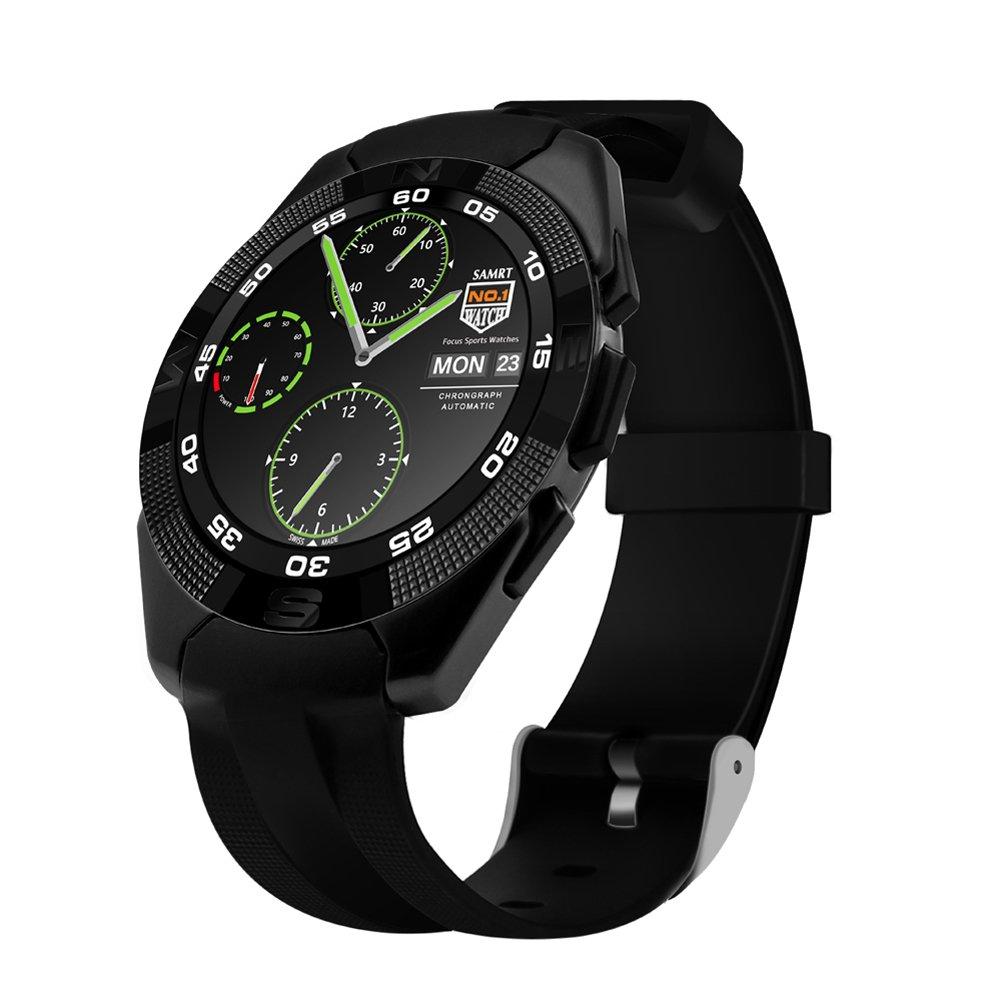 Kivors G Reloj Inteligente Bluetooth  con Monitor de Frecuencia Cardíaca Fitness